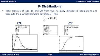 Statistics 4.8.3 F Distribution Review