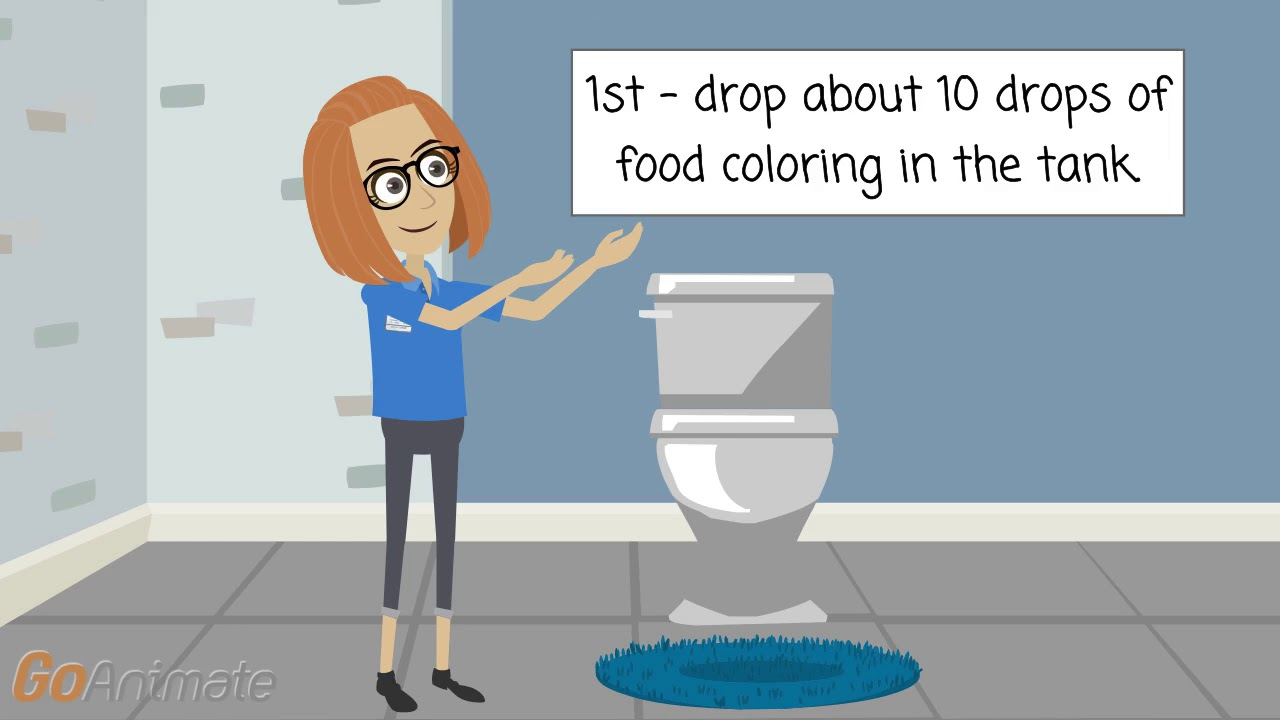 Water Conservation How To Detect A Toilet Leak With Food Coloring Youtube