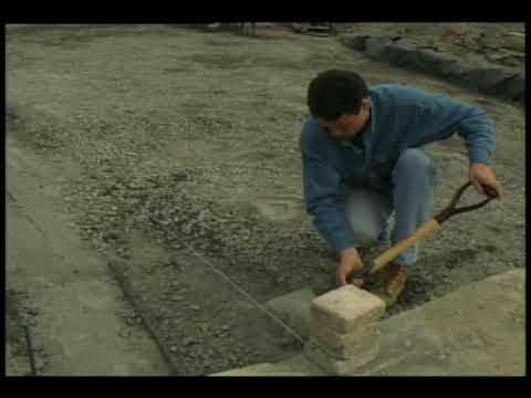 Paves de beton installation youtube - Pose pave sur dalle beton ...