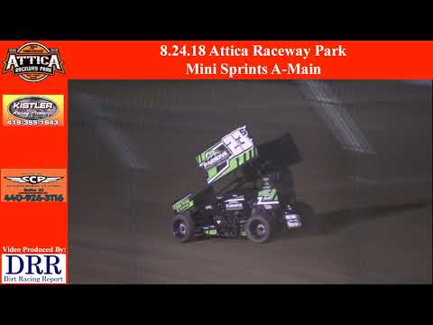 8.24.18 Attica Raceway Park Mini Sprints A-Main