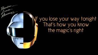 Repeat youtube video Daft Punk - Doing It Right (Lyrics)