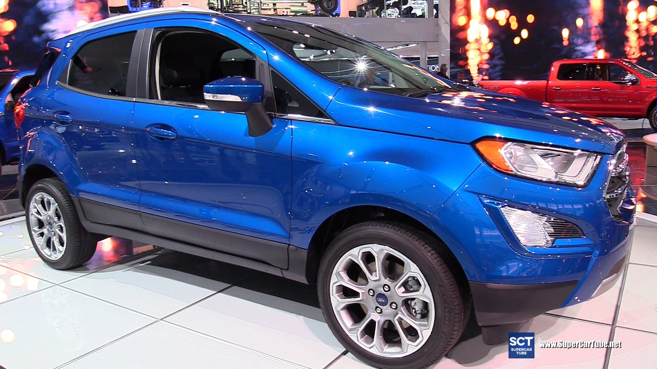 2018 ford ecosport titanium exterior and interior walkaround 2017 detroit auto show youtube. Black Bedroom Furniture Sets. Home Design Ideas