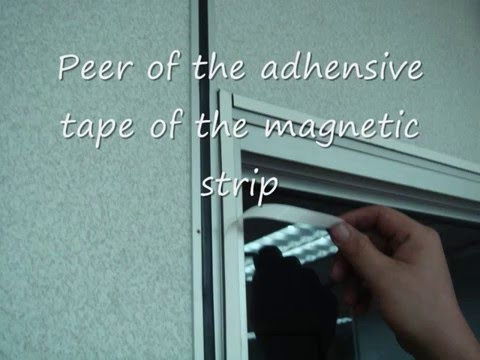 DIY Magnetic insect screens installation Demo