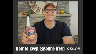 How to keep gasoline fresh with Sta-Bil