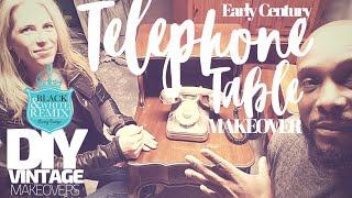 DIY Vintage telephone table makeover