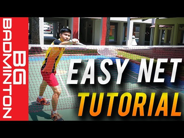 Easiest Way to Learn the Net Shot in Badminton