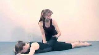 Pilates Workout Exercise: Prone Leg Lifts