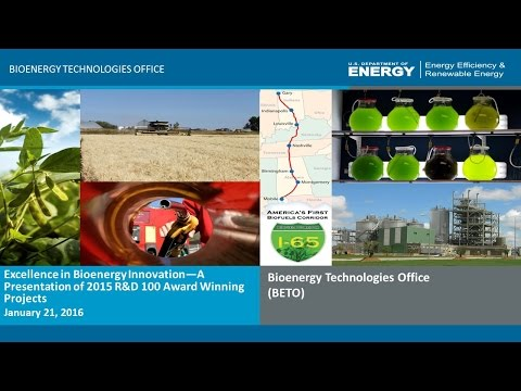 Excellence in Bioenergy Innovation—A Presentation of 2015 R&D 100 Award Winning Projects