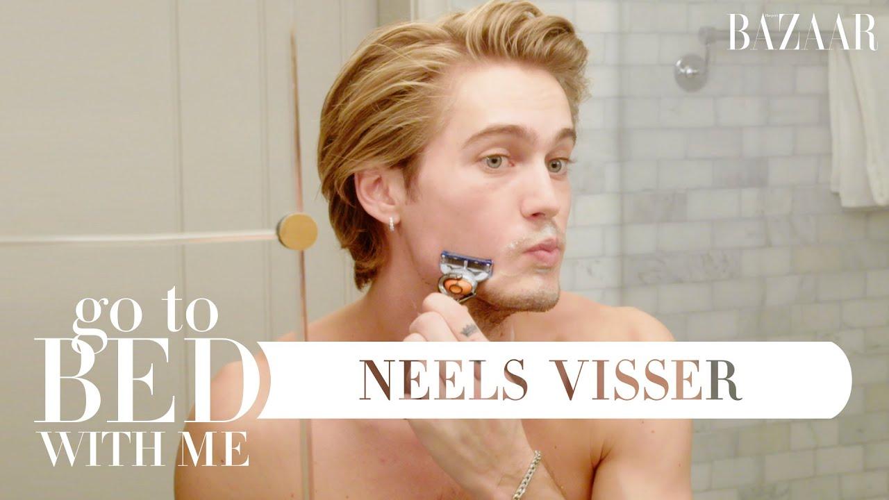 Neels Visser's Nighttime Skincare Routine | Go To Bed With Me | Harper's BAZAAR