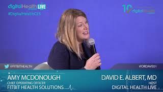 Interview Amy McDonough/Fitbit Health Solutions - Digital Health Live Studio - #CES2019 #DHS19