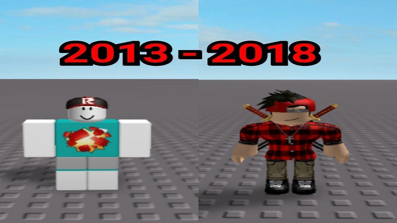 Roblox Avatar Evolution 2006 2018 My Roblox Avatar Evolution 2013 2018 Youtube
