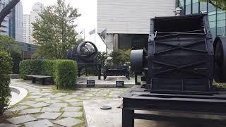 신도림역 디큐브공원 풍경 4K