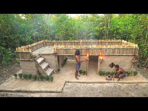 How To Build A Large Survival Modern Villa House In The Forest #Part I