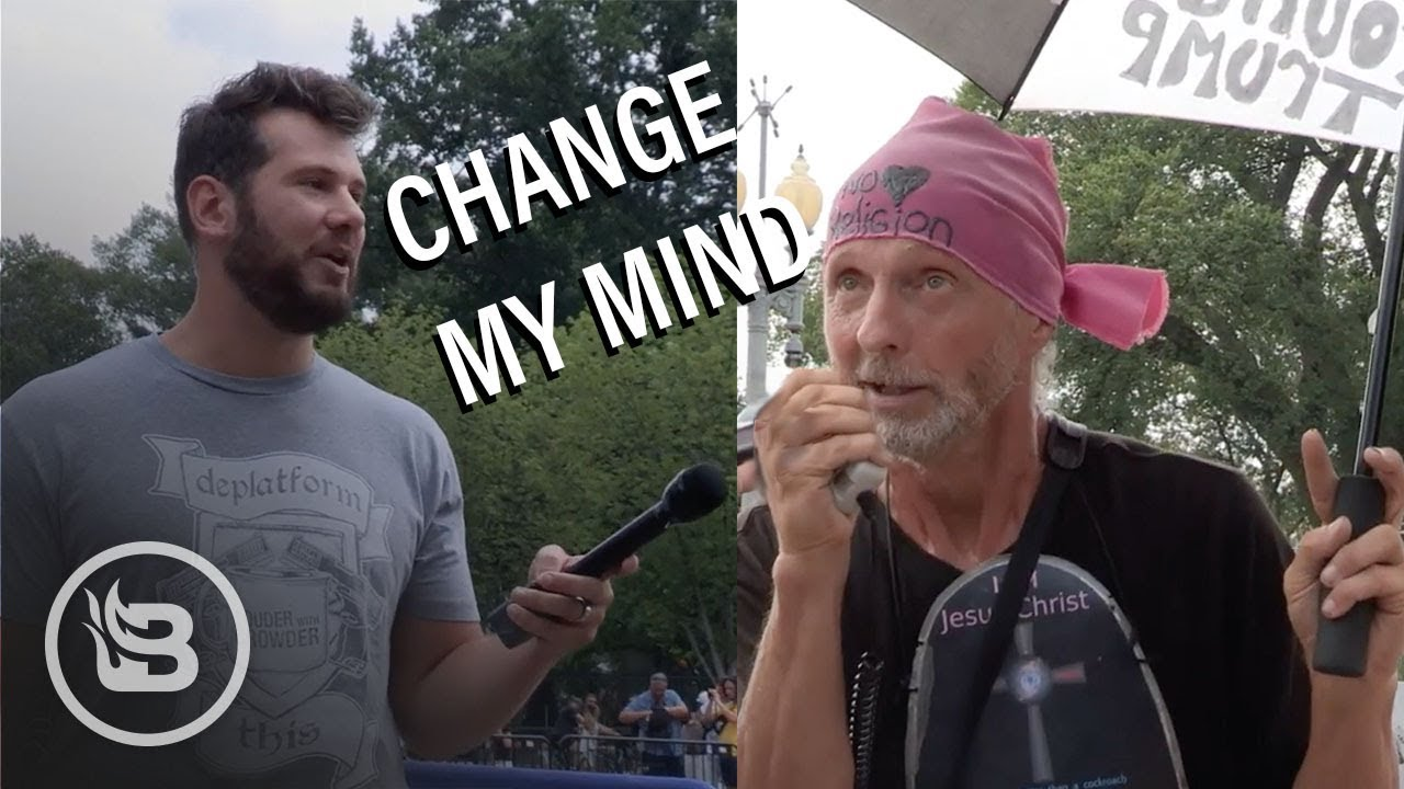 BLAZE TV Change My Mind Protestor Freaks Out on Crowder I Louder with Crowder