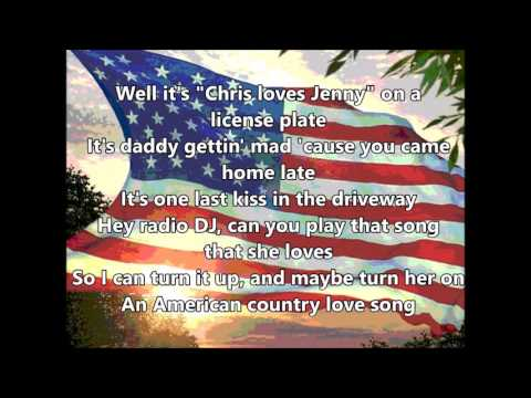 Jake Owen - American Country Love Song (Lyrics)