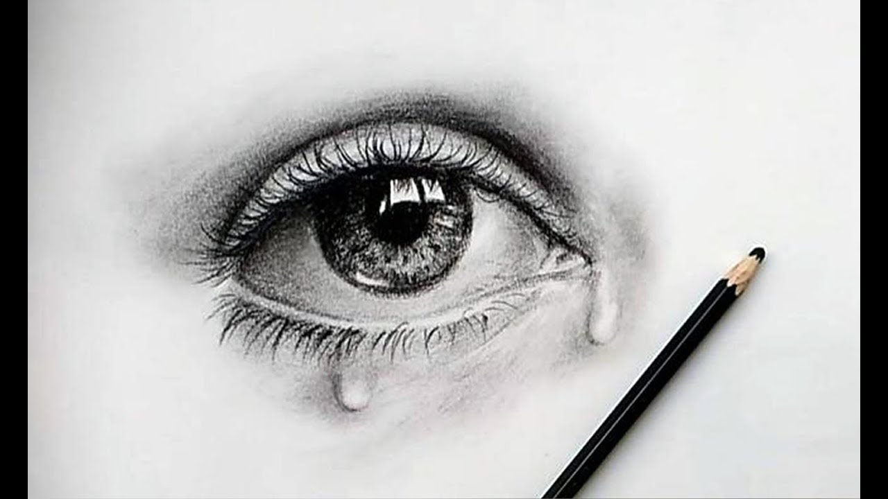 How to draw a beautiful eye very easily pencil sketch tutorial 01