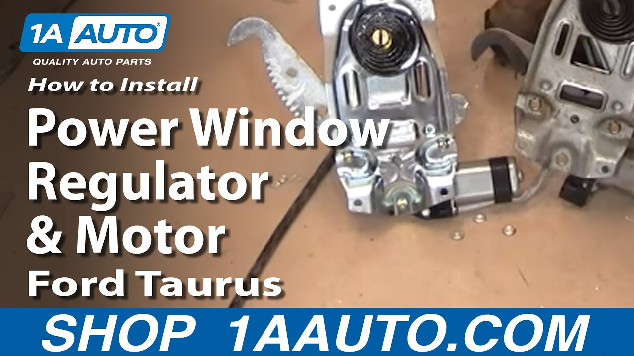 How To Install Replace Power Window Regulator And Motor Ford Taurus 1991 Mercury Tracer Diagram Wiring Schematic Sable 96 07 1aautocom Youtube