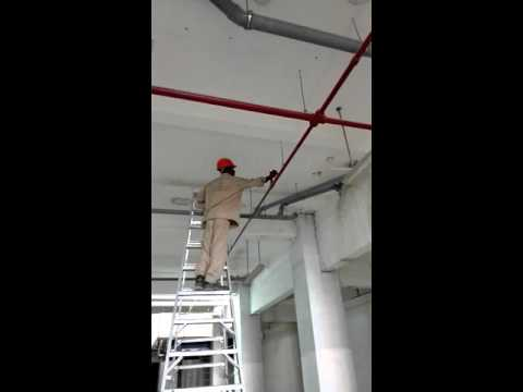 Fire sprinkler test.