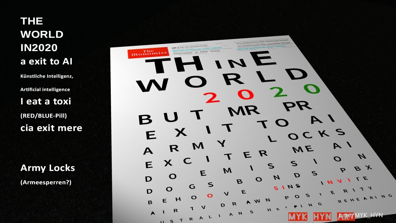 """""""THE ECONOMIST"""" Cover decoded-THE WORLD IN 2020 ;Anagrams - YouTube"""