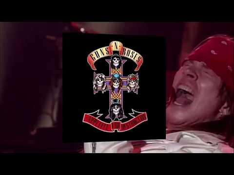 Guns and Roses. Appetite for destruction. Record. (HD)