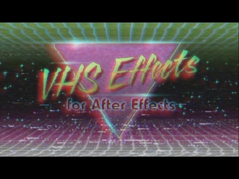Damaged VHS Tape Effect in After Effects