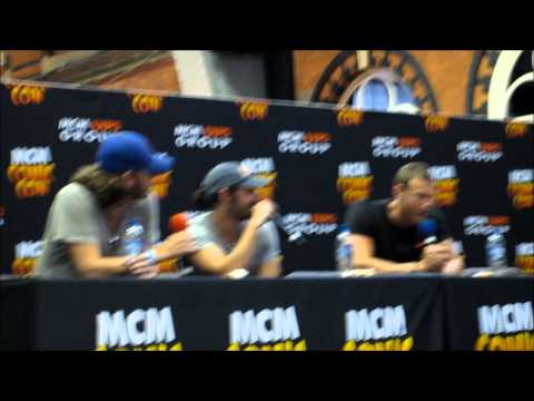 Rupert Young, Eoin Macken And Tom Hopper Panel Manchester 2013