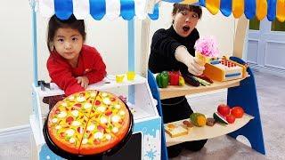 누구 가게가 장사가 더 잘될까요?!! 서은이의 아이스크림 피자 가게 몽드마레 키즈카페 요리 대결 Ice Cream Store