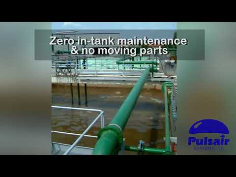 Industrial Wastewater Mixing | Pulsair Systems | Large Bubble Compressed Gas Mixing