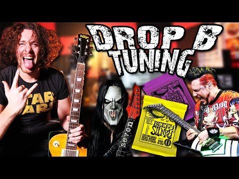 6 String DROP B METAL Tuning for Beginners