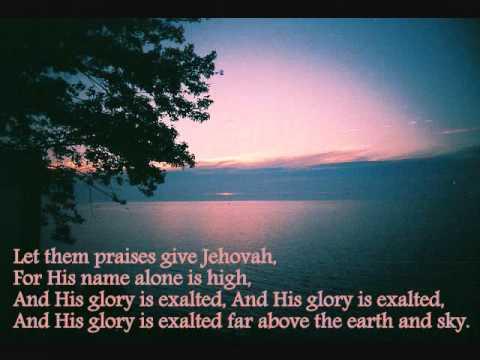 Hallelujah, Praise Jehovah- Karaoke