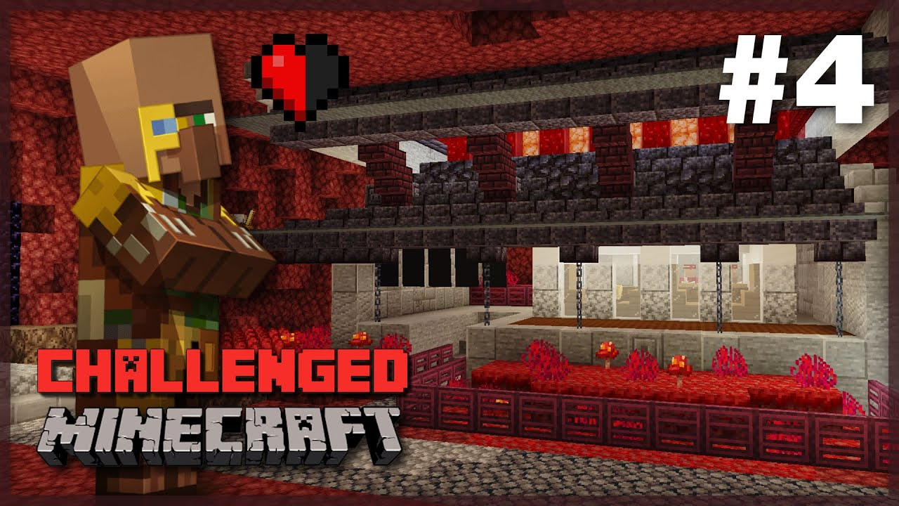 The Nether TRADING DISTRICT! 1.16 Minecraft Survival Let's Play | Challenged: Episode 4