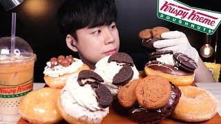 ??ASMR 크리스피크림도넛 4월 신메뉴 쿠키플렉스 먹…