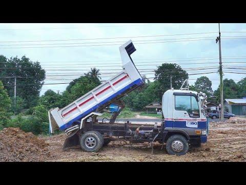 ชิมลาง ดู รถดั้ม รถบรรทุกหกล้อ ถมที่  truck Thailand