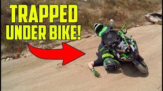 HE CRASHED HIS STREETBIKE! (Kawasaki 636 Crash)