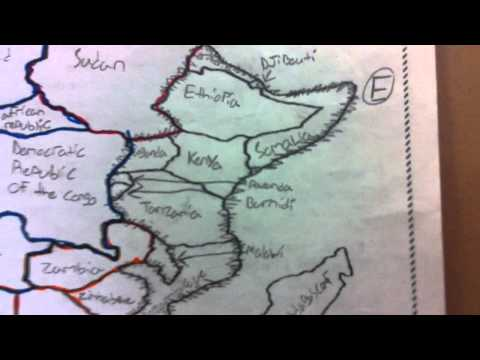 MCHS AVID-Know your world regions : Africa map