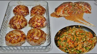 Chicken Stuffed With Vegetables Best Recipe