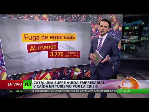 Cataluña sufre huida empresarial y caída en turismo por la crisis