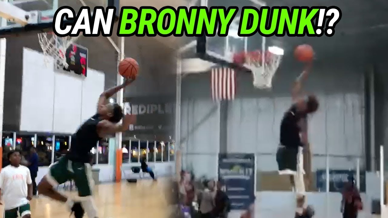 LeBron James copies son's dunk in warmups (video) | SI com
