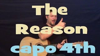 The Reason (Hoobastank) Easy Strum Guitar Lesson How to Play The Reason Tutorial