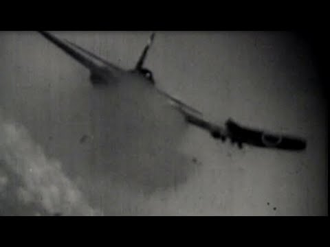 US Navy Gun Camera Footage - Japanese Kamikaze Suicide Bomber Attacks Okinawa WW2 Combat