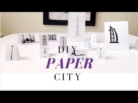 Quick Craft ♥ Diy paper city ♥