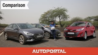 Honda City vs Toyota Yaris vs Hyundai Verna - Comparison Review - Autoportal