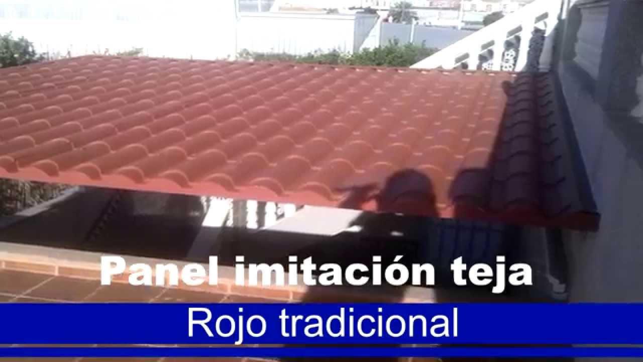 Ideas Y Ejemplos De Paneles Teja Sandwich Rojo Tradicional