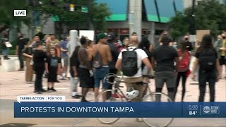 Protests in Downtown Tampa