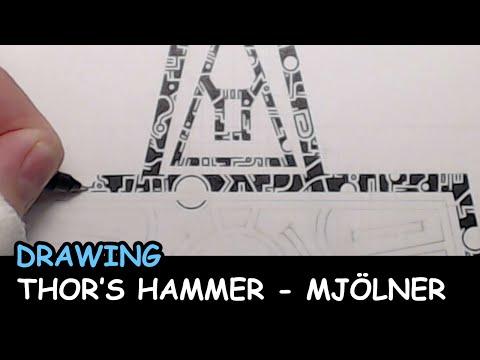 Drawing: Thors Hammer - Mjölner
