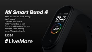 Mi Smart Band 4 | Sale on 28th Sep at 1 PM! #LiveMore