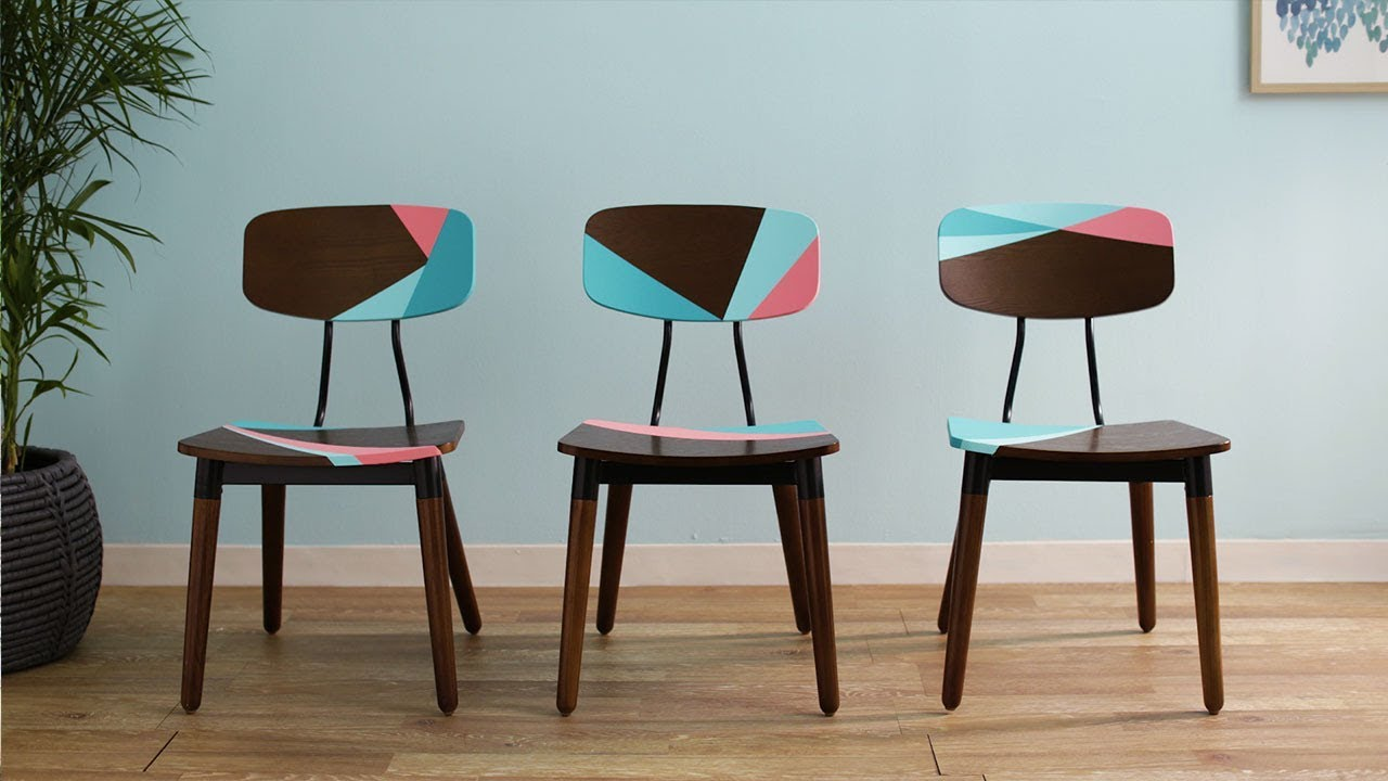 Ask SW: How To Paint Color Blocked Chairs   Sherwin Williams