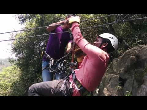 "Zip lining at Cherrapunji (""_"")"