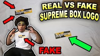 I'VE BEEN WEARING A FAKE ALL THIS TIME!!? HOW TO SPOT A FAKE SUPREME BOX LOGO!