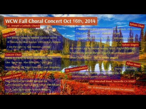 2014 Will C. Wood High School and Vaca Pena Middle School Fall Concert